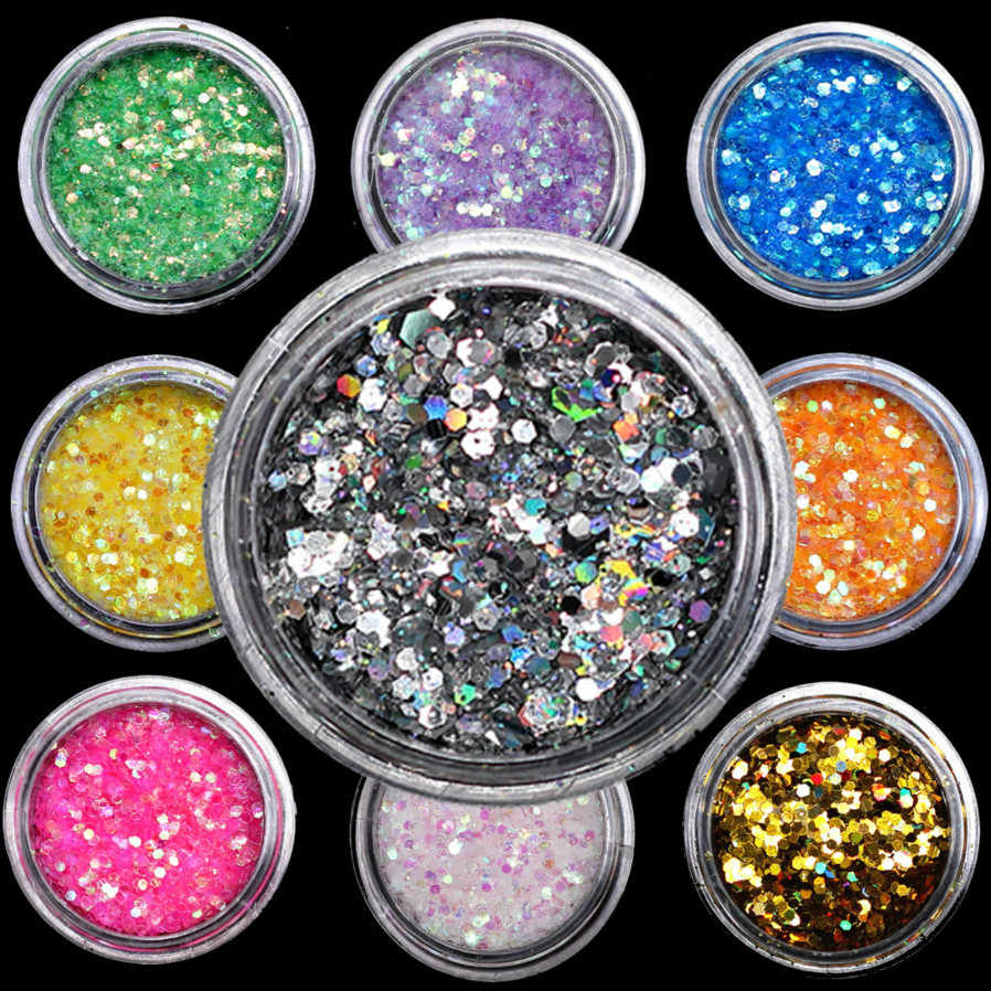 1Pcs Colorful Nail/Tubuh Uv Gel Nail Art Tips DIY Desain Manikur Glitter Uv Dipimpin Rendam Off Cat tinta Gel Uv Gel Cat Kuku Lacq