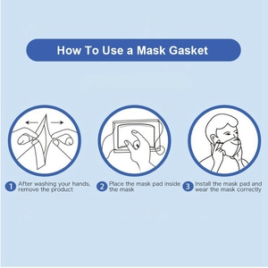 Image 5 - 100~500pcs Disposable Mask Filter Pad Facial haze Masks Universal Protective Dustproof Replaceable Pad Suitable For All Masks