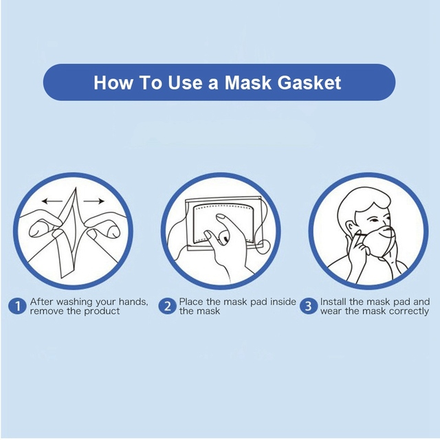 100~500pcs Disposable Mask Filter Pad Facial haze Masks Universal Protective Dustproof Replaceable Pad Suitable For All Masks 5