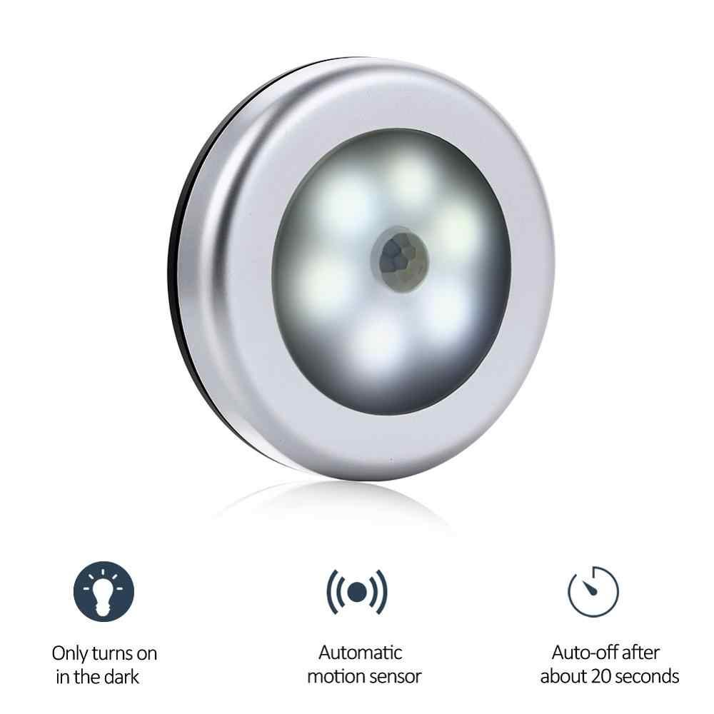 Настенный светодиодный Ночной светильник с датчиком движения, аварийный детектор, батарея, шкаф, лестница, мини-светильник, Домашний Светильник