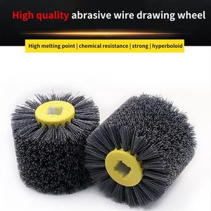 Image 1 - Nylon Abrasive Wire Drum Polishing Wheel Electric Brush for Woodworking Metalworking High Quality