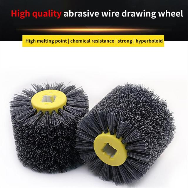 Nylon Abrasive Wire Drum Polishing Wheel Electric Brush for Woodworking Metalworking High Quality
