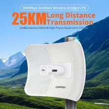 Comfast CF-E319A 5.8G açık kablosuz köprü 900Mbps 25KM iletim sinyal güçlendirici CPE 26 dBi WiFi tekrarlayıcı genişletici yönlendirici