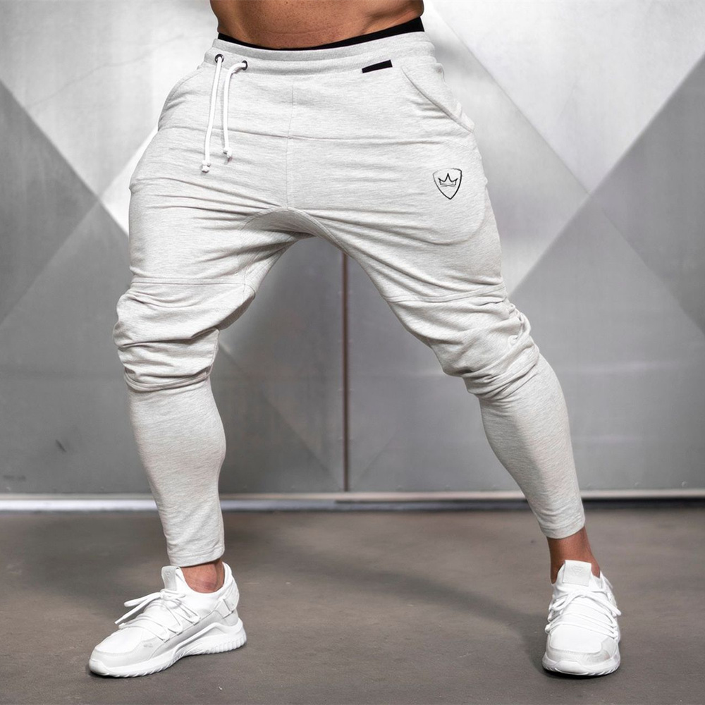 Jogger Pants Gyms Sweatpants Mens Casual Solid Cotton Trackpants Autumn Winter Trousers Male Fitness Workout Sportswear Bottoms