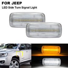 2x Clear LED Front Side Marker Light For JEEP Patriot 2007-2017 Compass Commander Liberty Grand Cherokee Chrysler Dodge Charger power front window lifter switch 04602781aa 4602781aa fit for dodge charger durango magnum avenger jeep grand cherokee commander