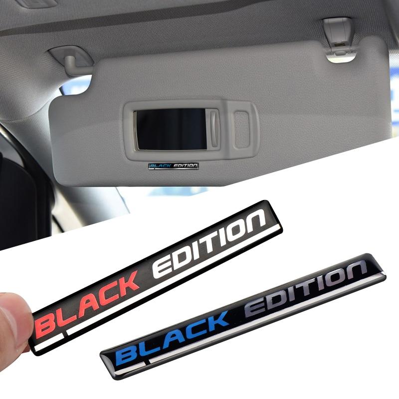 Для BMW Kawasaki Suzuki Honda VW Toyota Mazda 3D автомобильный Стайлинг черное издание эмблема 3D эпоксидная смола значок наклейка украшение