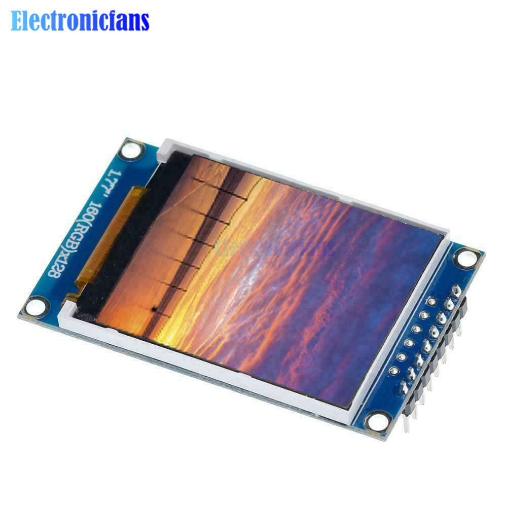 1.77 Inch TFT Digital LCD Display Screen Module Color Screen 128*160 SPI Serial Port Interface Bare Screen Board for Arduino