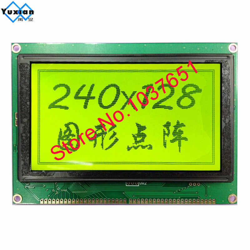LCD Display Modul 240128B 5.1 Inch Touch Panel Plastik UCI6963 T6963C LCM240128B-V2.0 Biru Hijau Fstn Putih dan Hitam Huruf