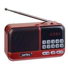 Perfeo радиоприемник цифровой ASPEN FM+ 87.5-108МГц/ MP3/ питание USB или 18650/ красный (i20))