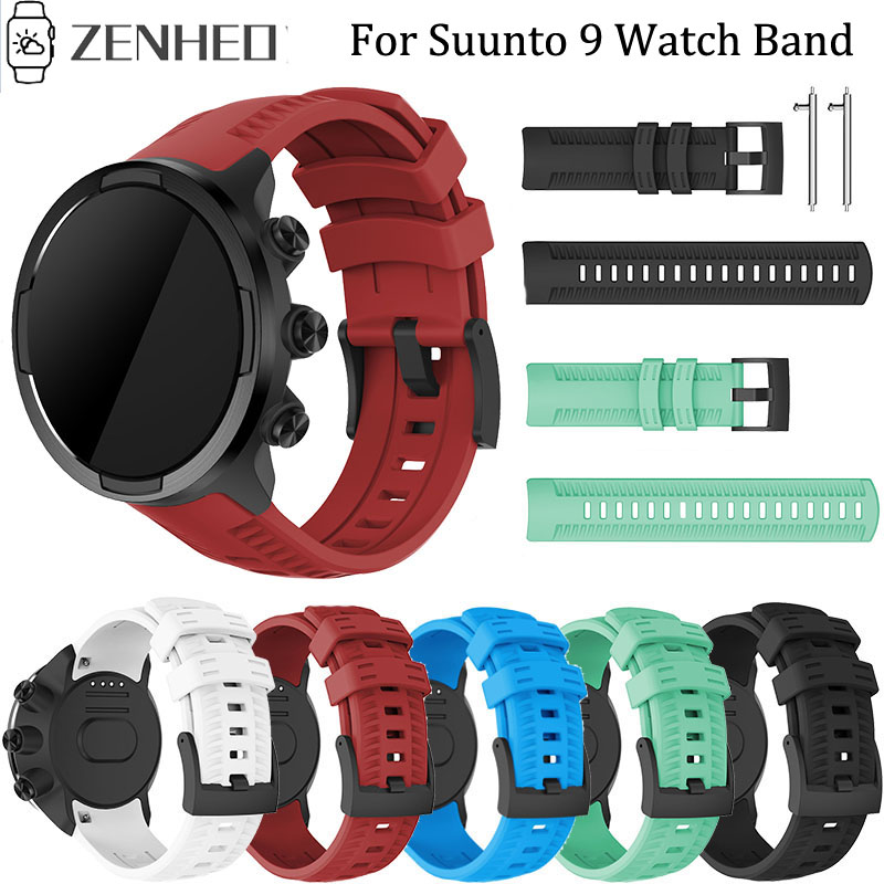 Silicone Strap Replacement Watch Band Wrist Strap Bracelet For Suunto 9 Spartan Sport Wrist HR Baro Smart Watch Band