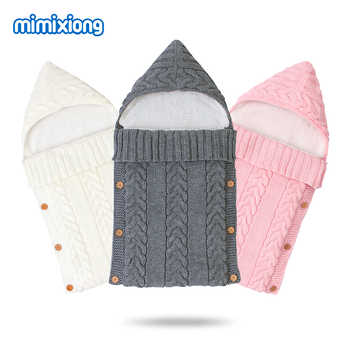 Autumn Envelope for Newborn Baby Sleeping Bags Winter Warm Infant Stroller Sleep Sack Cable Knitted Toddler Outdoor Swaddle Wrap - DISCOUNT ITEM  39% OFF All Category