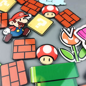 Fridge Magnets Sticker Refrigerator Gaming Japan Super-Mario Paster Cartoon Ice-Box 17/22/28/29pcs