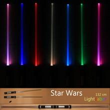 2 pçs sabres de luz menino crianças piscando espada brinquedos cosplay engraçado laser espada luminosa sabre de luz presente natal