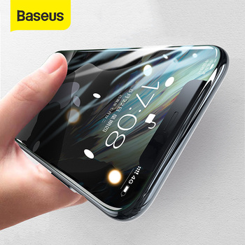 Baseus proteção de vidro para iphone 11 pro max protetor de tela cobertura completa filme composto para iphone xr xs max vidro temperado
