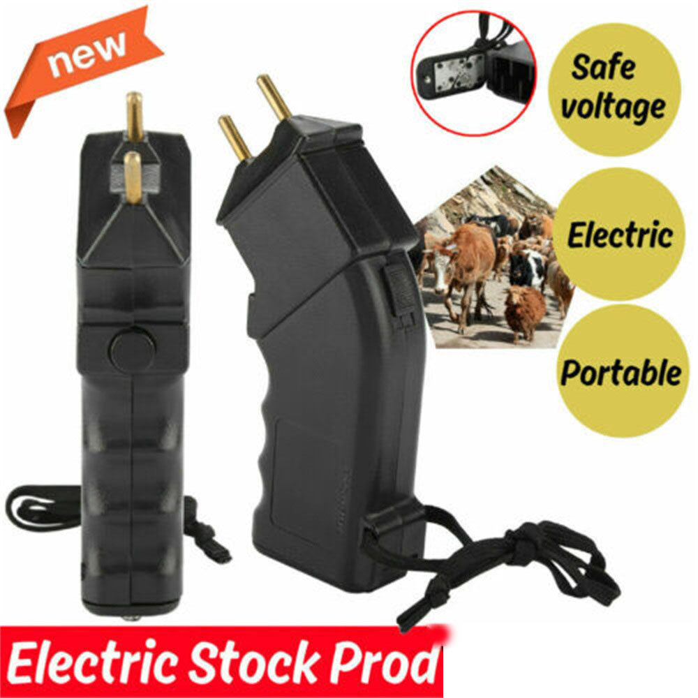 Hand Prodder Battery Prod Cattle Dog Sheep Goats Dairy Beef Cows Electric Shock