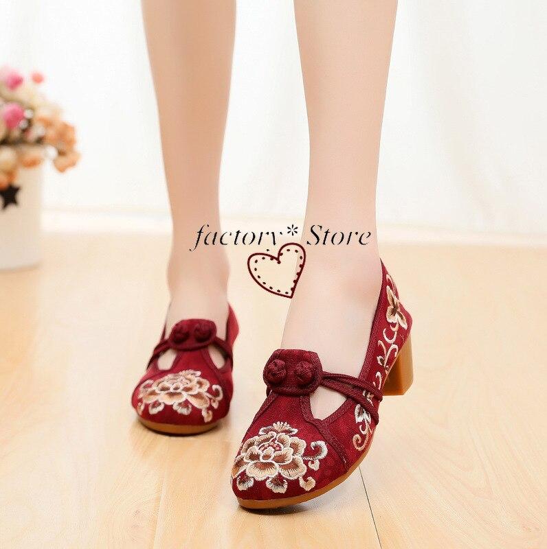 Купить обувь с вышивкой; новинка; женская обувь на высоком каблуке