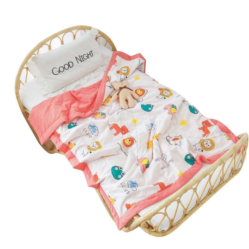 Kids Quilt Cotton Babys Quilt Kindergarten Nap Nursery Bedding Summer Boy Nursery Themes Crib Bedding Girl Room Decor 120x150cm