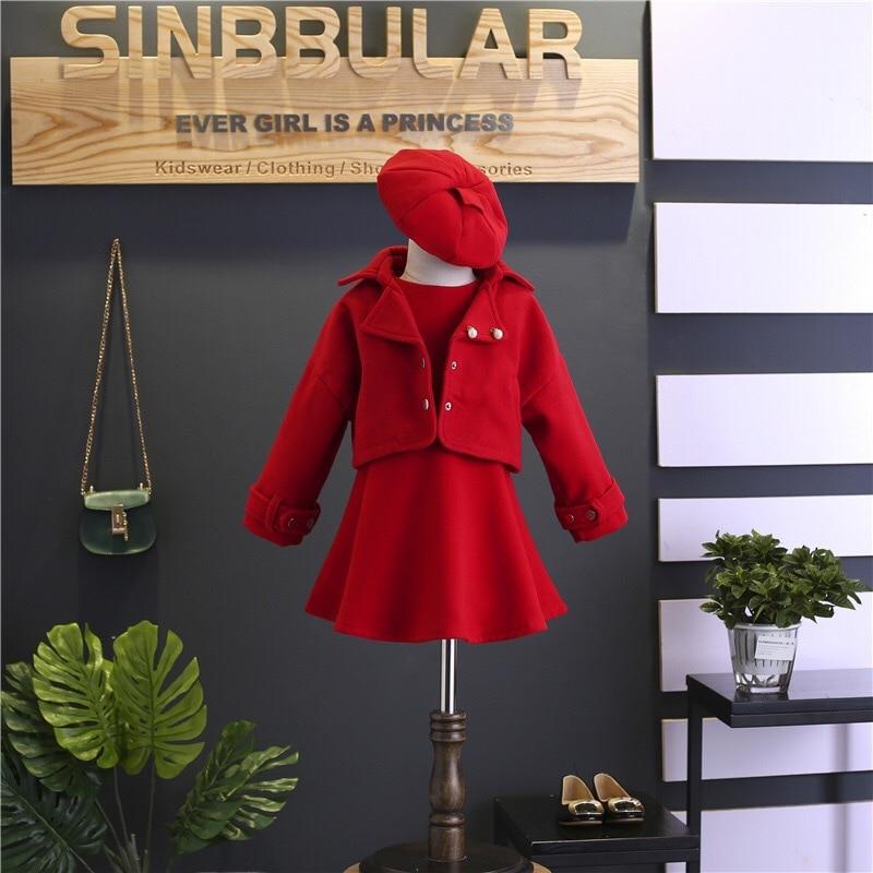 Children Girls Clothing Girls Winter Clothes 2019 Winter Baby Girls Warm Sleeveless Vest Dress +Woolen Jacket Coat 3PCS Sets (15)
