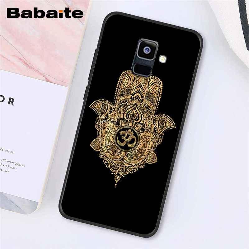 Babaite Hamsa ręka fatimy etui na telefon do Samsung Galaxy A7 A51 A71 A80 2018 A50 A7 A51 A71 A80 A8 A3 A6 A6PlusA8Plus A9