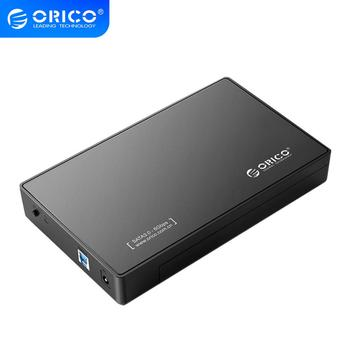 ORICO 3.5 Inch HDD Enclosure SATA to USB3.0 / USB 3.1 Gen 1 Type C Hard Drive Case for SSD Disk UASP 8TB With Power Adapter