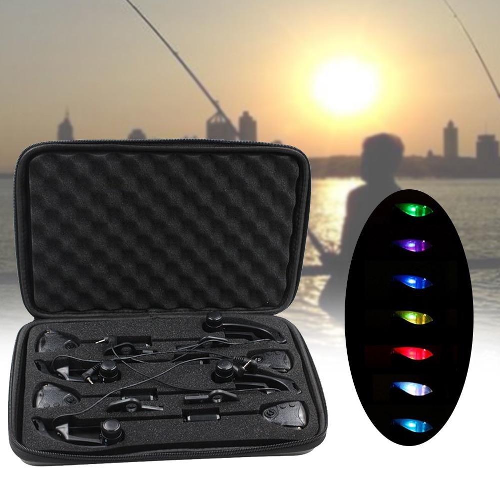 Fishing Practical Black Flicker Carp Illuminated Accessories Indicator Outdoor Changeable Light 7 Colors Swinger Set Adjustable