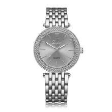 Роскошные модные женские кварцевые наручные часы с кристаллами