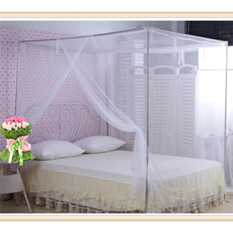 White Four Corner Outdoor Camping Mosquito Canopy Net With Storage Bag Insect Tent Protection Bedroom Full Netting 200*165*150cm