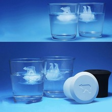 Silicone Ice Cube Mold Penguin Polar Bear Popsicle Molds Silicone Ice Cube Tray Ice Cube Maker Ice Trays Kichen Accessories