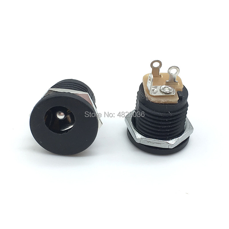 10Pcs DC-022 5.5-2.1/2.5mm DC Power Socket/ DC Connector Panel Mounting DC022 5.5x2.1mm 5.5x2.5mm