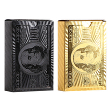 Waterproof Playing Cards 2 Packs  Golden Black Poker Collection Durable Creative Gift Diamond Plastic Game