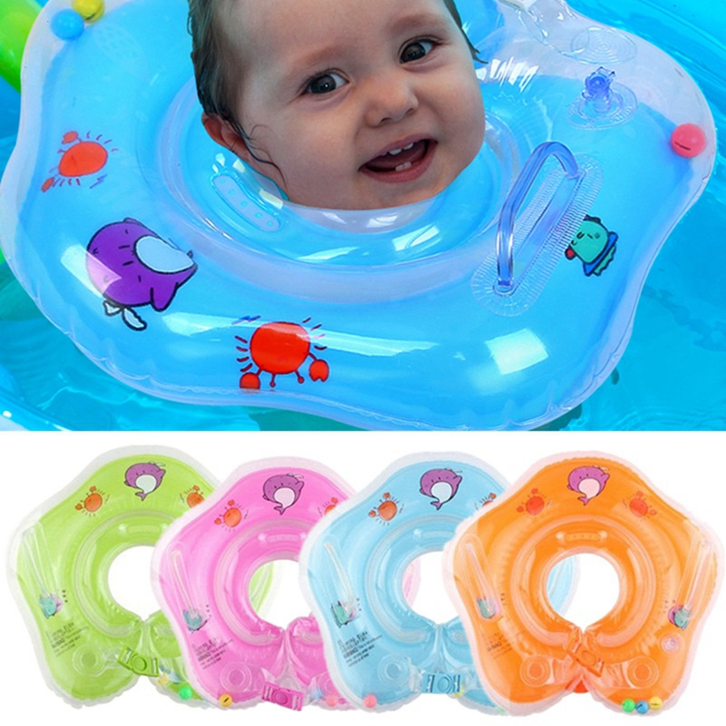 Baby Swimming Pool Accessories Baby Swimming Baby Collar Swimming Ring Safety Baby Neck Float Swimming Inflatable 4 Color