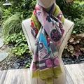Nueva bufanda de Cachemira 300s bufanda de Invierno para mujer chales de marca de lujo para mujer abrigo cálido 200*100cm de calidad versión