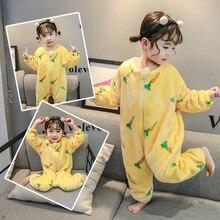 Pajamas Kids Girls' Baby One-Piece Winter Children's Cartoon Home-Clothes Comfortable