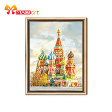 Kits de punto de cruz juegos de costura de bordado 11CT patrones de lona solubles en agua 14CT Saint Basil's Cathedral-NCMS001(China)
