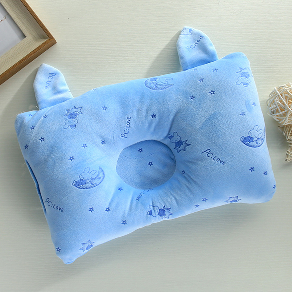 Neck Support Sweat Absorption Soft Sleeping Head Shaping Rabbit Ear Positioning Newborn Baby Pillow Cute Cartoon Cushion Bedding