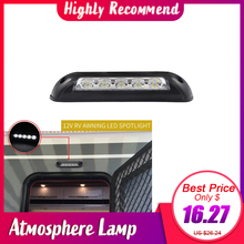 Car Styling 12V Waterproof Interior Wall Lamps Light Bar RV LED Awning Porch Light for Motorhome Caravan RV Van
