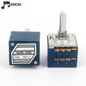 Image 4 - 1 pc japão alpes rk27 volume log potenciômetro estéreo 2 gang dupla 10 k/20 k/50 k/100 k/250 k potenciômetro redondo punho + pcb