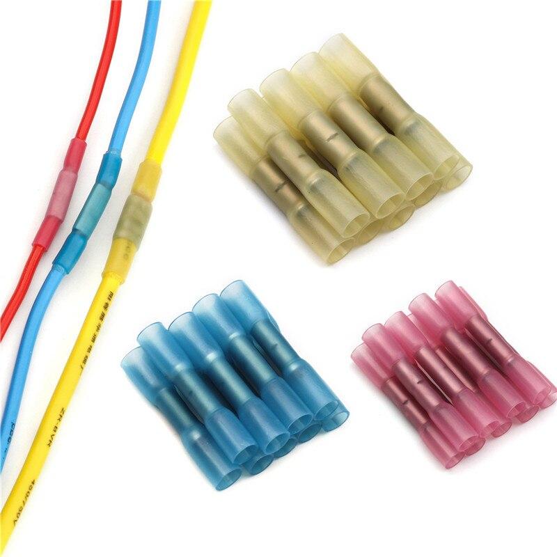 10/20/25/50 個熱収縮バット端子絶縁電線コネクタ awg 22-10 ケーブル圧着端子コネクタキット