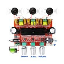 Плата звукового усилителя для сабвуфера, 2,1 канала, 100 Вт + 2*80 Вт, TPA3116D2, мощная цифровая стереосистема, Hi Fi, DC12 24V