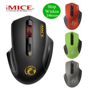 Image 1 - Беспроводная мышь iMICE 2000DPI, Регулируемая оптическая компьютерная мышь USB 3,0 с приемником 2,4 ГГц, эргономичные мыши для ноутбука, ПК, мыши