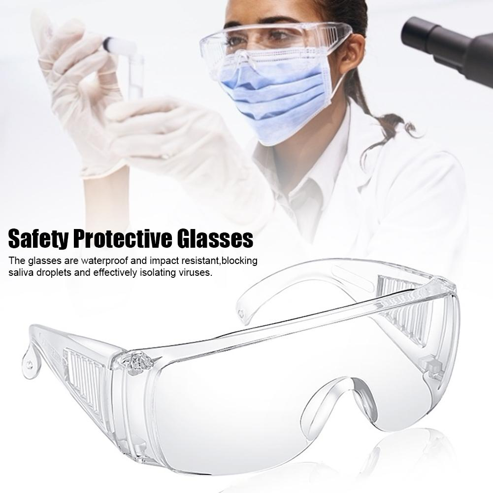 Safety Glasses Anti-dust Goggles PC Glasses Protective Glasses Eyewear Disposable Surgical Medical Mask