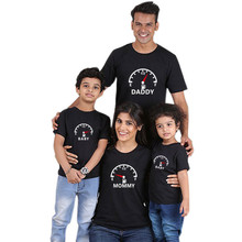 New Fashion Mommy and Me Clothes Family Look Shirt Mother Daughter Matching Love Clock Cotton Tshirt