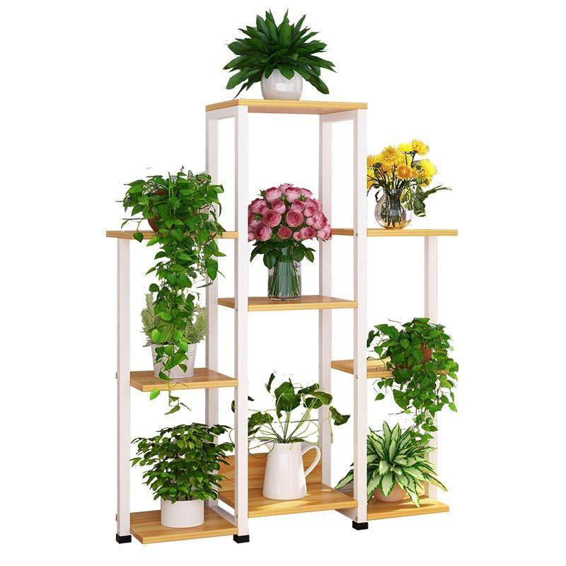Multi-storey Indoor Living Room Flower Airs Province Space Balcony Chlorophytum Frame Landing Type Iron Meat Flowerpot
