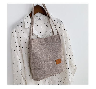 Women Durable Tote Large Capacity Handbag Casual Female Solid Shopping Bags
