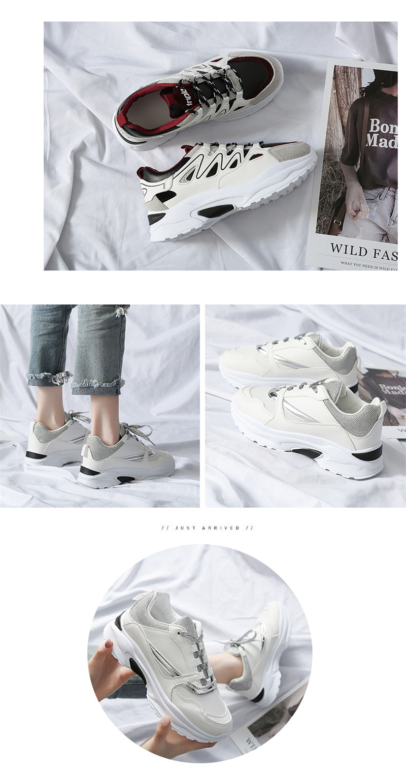 Spring Summer New Fashion Women's Vulcanize Shoes Casual Platform Increased Women Shoes Sneakers Casual Shoes Women VT611 (4)
