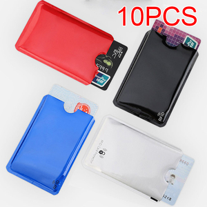 10 PCS Anti Rfid Blocking Reader Card Cover Aluminum Foil Credit Card Holder Protection ID Bank Card Case Safty Pack stationery