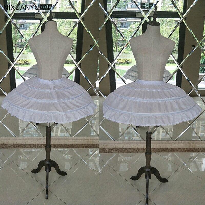 Wholesale White 3 Hoops Wedding Petticoats For Short Dress Ballet Skirt Girls Crinoline Elastic Waist Underskirt Jupon Court
