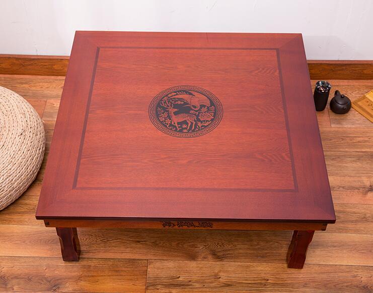 Firkantet 80X80 cm koreansk gulvbord Klappeben Luksus Antik - Møbel - Foto 2