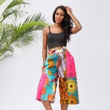 Брюки с принтом в африканском стиле; Модные женские Короткие