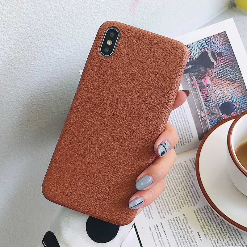 Boucho для iphone Xs MAX XR X XS чехол s крокодиловая текстура чехол для телефона для iphone 11 Pro max 7 8 6 6S Plus Роскошный чехол из искусственной кожи - Цвет: Litchi Khaki